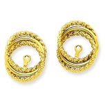 14K Gold Twisted Fancy Earring Jackets
