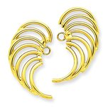 14K Gold Swirl Shaped Earring Jackets