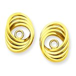 14K Gold Love Knot Earring Jackets