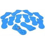 12 Toe Ring Displays Foam Foot Blue Body Jewelry Holder