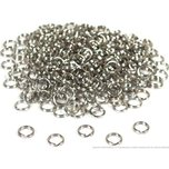 288 Nickel Plated Split Ring Chain Parts Findings 6mm