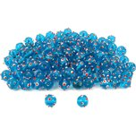Blue Round Dot Glass Beads Lampwork Beading Approx 100