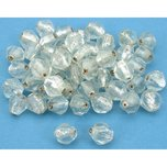 Bicone Faceted Silver Foil Glass Beads Clear 14mm 50Pcs Approx.