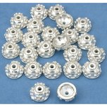 Bali Bead Caps Silver Plated 7mm 24Pcs Approx.