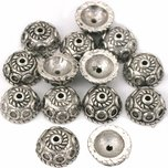 Bali Bead Caps Rope Antique Silver Plated 9.5mm 14Pcs Approx.