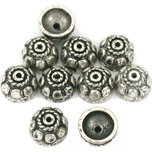 Bali Bead Caps Antique Silver Plated 9.5mm 10Pcs Approx.