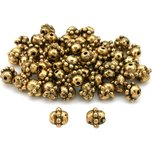 Bali Barrel Antique Gold Plated Beads 7mm 50Pcs Approx.