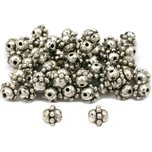 Bali Barrel Beads Antique Silver Plated 7mm 100Pcs Approx.