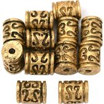 Bali Barrel Antique Gold Plated Beads 8mm 15 Grams 10Pcs Approx.