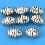 Bali Barrel Antique Silver Plated Beads 10mm 15 Grams 8Pcs Approx.