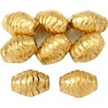 Bali Barrel Gold Plated Beads 10mm 15 Grams 8Pcs Approx.