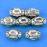Bali Barrel Antique Silver Plated Beads 11mm 15 Grams 7Pcs Approx.
