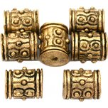 Bali Barrel Antique Gold Plated Beads 9mm 16 Grams 7Pcs Approx.