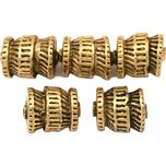 Bali Barrel Antique Gold Plated Beads 12mm 16 Grams 5Pcs Approx.