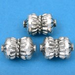 Bali Barrel Antique Silver Plated Beads 17mm 19 Grams 3Pcs Approx.