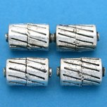 Bali Barrel Antique Silver Plated Beads 17mm 16 Grams 3Pcs Approx.