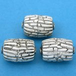 Bali Barrel Antique Silver Plated Beads 19mm 20 Grams 3Pcs Approx.