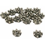 Bali Bead Caps Antique Silver Plated 10.5mm 15 Grams 14Pcs Approx.