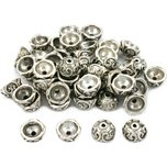 Bali Bead Caps Antique Silver Plated 9.5mm 50Pcs Approx.