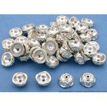 Bali Bead Caps Silver Plated 9.5mm 50Pcs Approx.