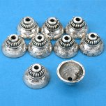 Bali Bead Caps Antique Silver Plated 12.5mm 16 Grams 8Pcs Approx.