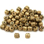 Bali Barrel Antique Gold Plated Beads 5mm 50Pcs Approx.
