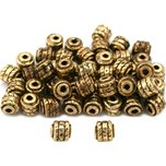 Bali Barrel Antique Gold Plated Beads 4.5mm 50Pcs Approx.