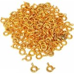 144 Spring Ring Clasp Gold Plated Chain Part