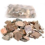 Assorted Crushed Rocks Tumbling Polishing 2 Pound Mix