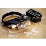 Magnifying Head Visor Loupe Glass with Lights
