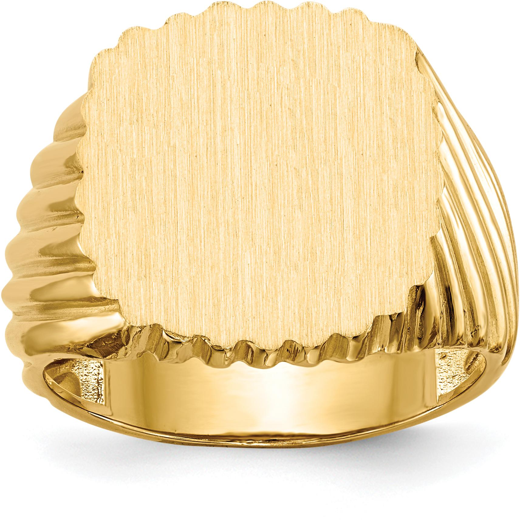 Perfect Jewelry Gift 14k Mens Signet Ring