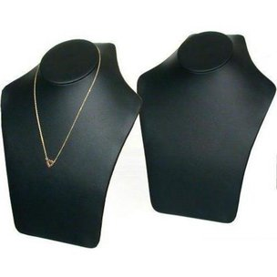 2 Big Leather Necklace Display Chain Busts FindingKing