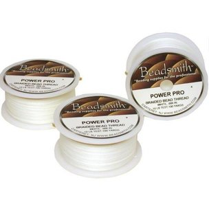 Beadsmith Bead Stringing Cord White 3 Spools