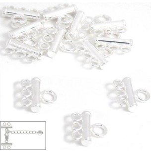 12 Sterling Silver 3 Strand Pearl Bead Necklace Parts