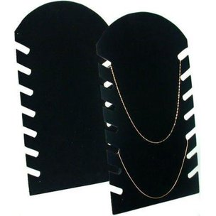 2 Black Necklace Pendant Chain Jewelry Plastic Easel Displays