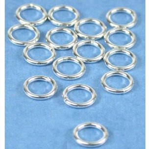 Round Closed Jump Rings Sterling Silver 19 Gauge 6mm 15Pcs
