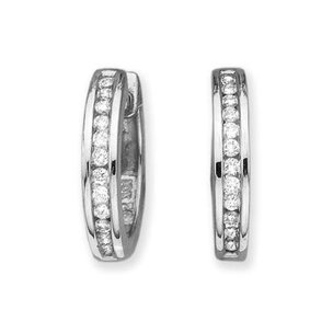 10K White Gold 1/4 (.25) ct JK Diamond Earrings