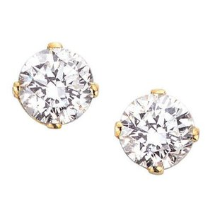 14K Gold 1/2 (.5) ct GH Diamond Stud Earrings