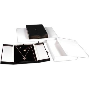 3 Earring Ring Necklace Black White Combo Jewelry Boxes