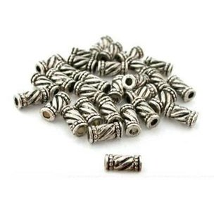 30 Tube Bali Beads Antique Necklaces Jewelry Parts