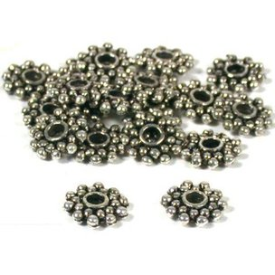 Bali Spacer Nickel Plated Beads 8.5mm 20Pcs