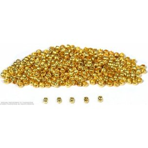 400 Gold Plated Crimp Beads Jewelry Beading Making Parts 2mm x 1mm