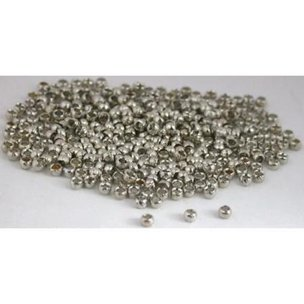 300 White Plated Brass Crimp Beads Beading 2mm x 1mm