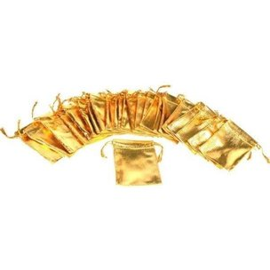 24 Pouches Gold Gift Bags Drawstring Jewelry Favor 2""