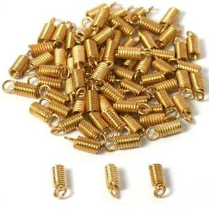 75 Gold Plated End Caps Necklace Chain Cord Connectors