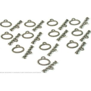 12 Bali Toggle Clasps Oval Beading Necklace Bracelets