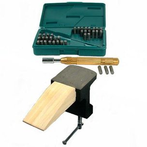Automatic Punch Number Letter Set Bench Pin Clamp Tools Jewelers Jewelry Tools