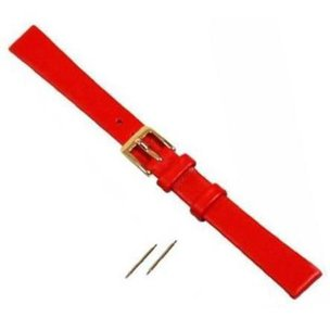 Red Leather Watchband for Mickey or Minnie Watch 14mm