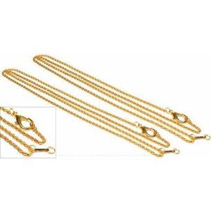 "Loupe Chains Gold Plated 36"" 2Pcs"