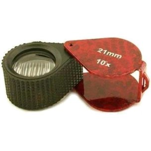 10x Round Loupe Red 21mm